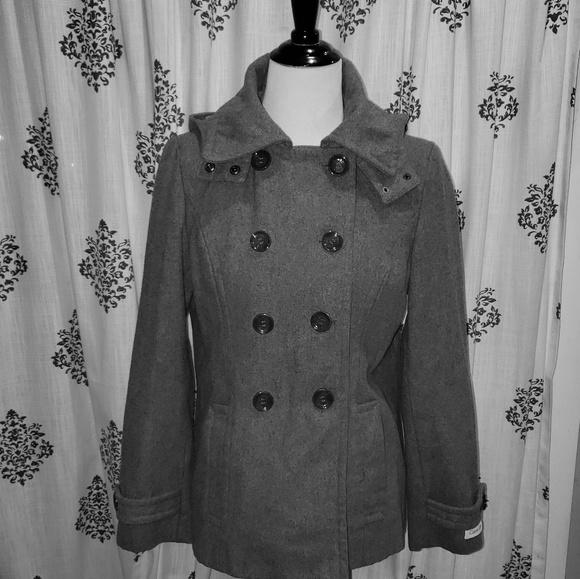 Calvin Klein Jackets & Blazers - Great condition grey Calvin Klein Hooded Jacket 10